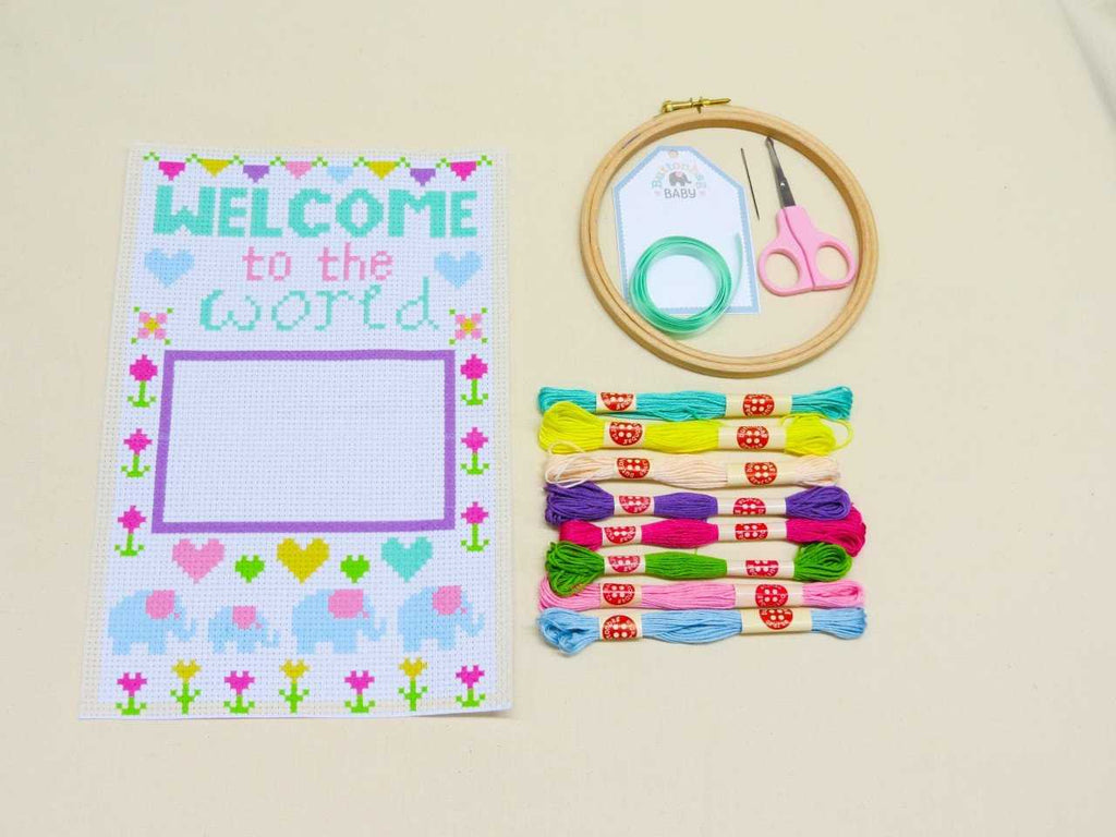 Buttonbag baby sampler kit contents - Peach Perfect