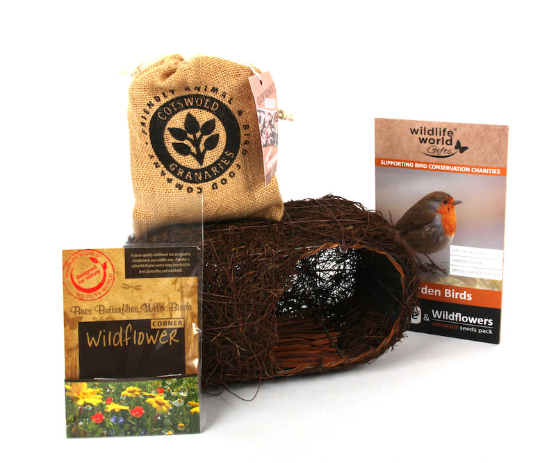 Garden bird gift set by Wildlife World -Contents - Peach Perfect