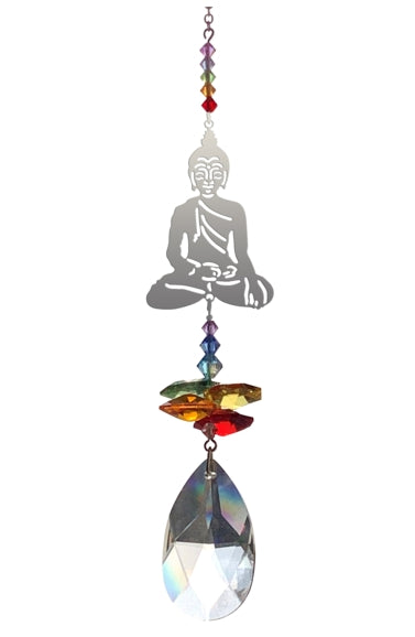 Buddha swarovski crystal suncatcher by Wild Things Gifts - Peach Perfect