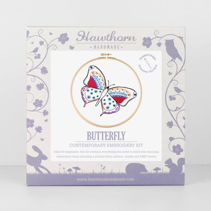 Butterfly Embroidery Kit by Hawthorn Handmade - Peach Perfect