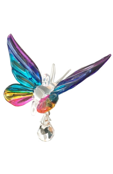 Glass Butterfly with Swarovski crystal by Wild Things Gifts - Peach Perfect
