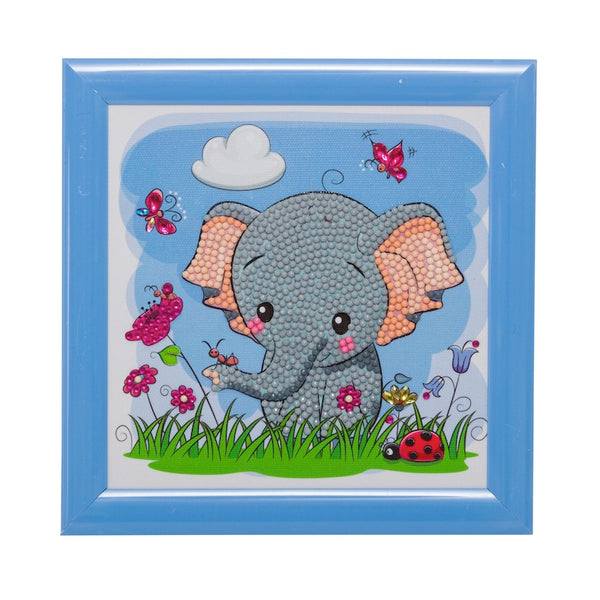 Kid's Crystal art kit - elephant - Peach Perfect