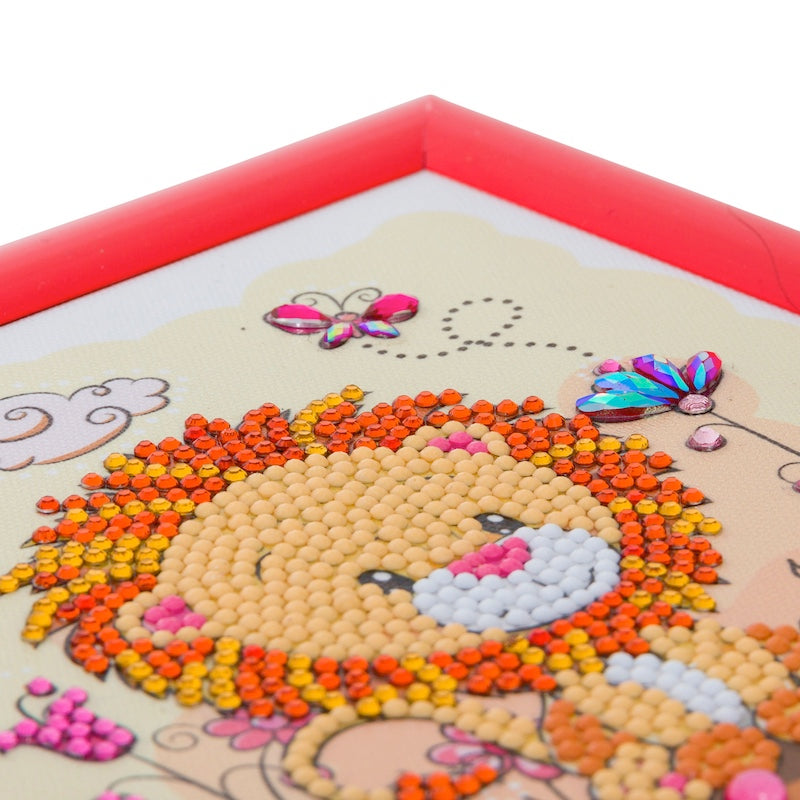 Close up of Crystal art picture for children - Lion - Peach Perfect