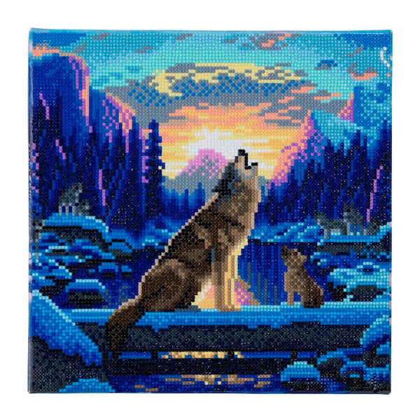 Crystal Art Kit Howling Wolves by Craft Buddy - Peach Perfect
