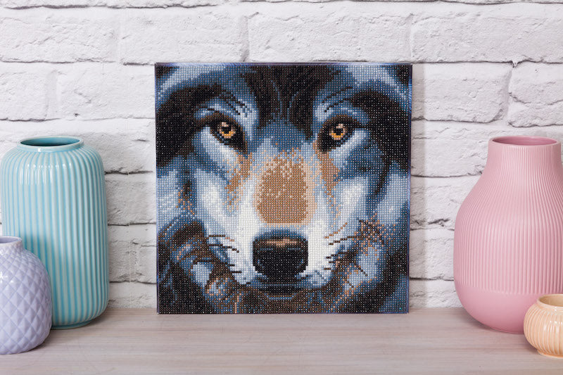 Wolf Crystal Art picture kit in situ - Peach Perfect