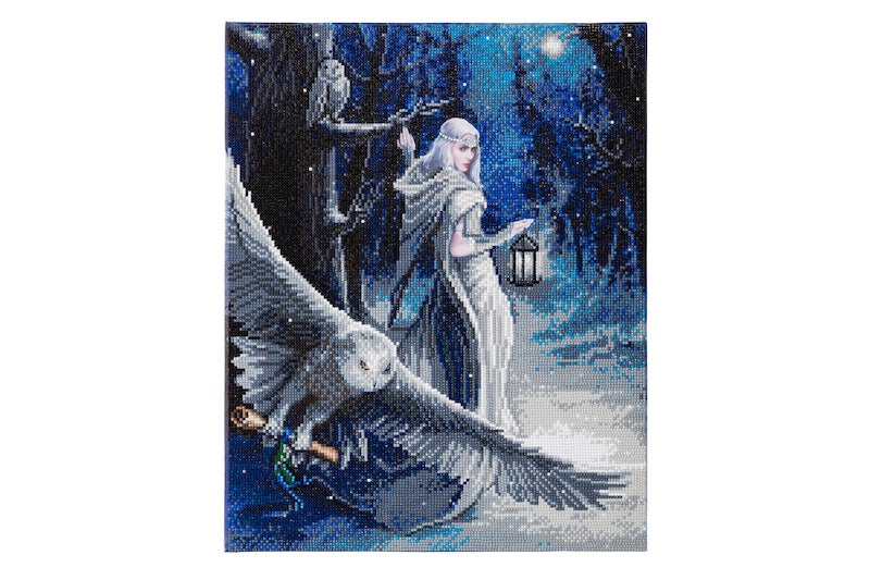 Anne Stokes Midnight Messenger Crystal Art craft kit - Peach Perfect