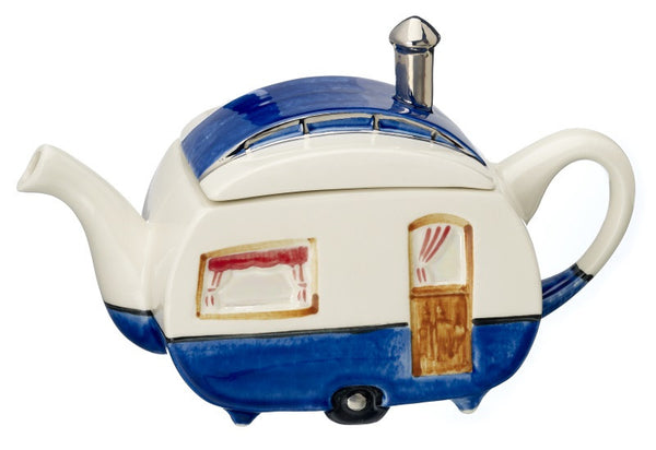 Caravan Novelty Teapot by Carters of Suffolk -  Peach Perfect - 1