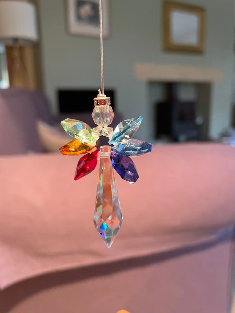 Angel crystal ornament in the context of a living room