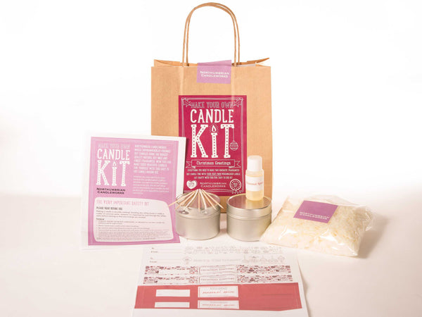Christmas greeting Soy Candle kit - Peach Perfect