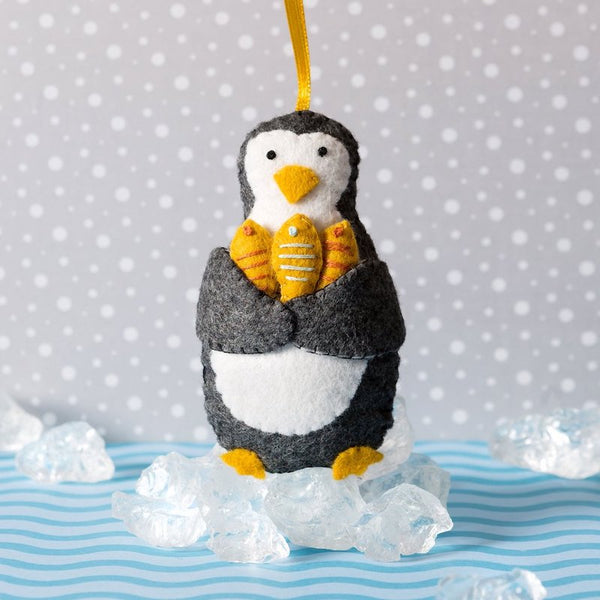 Mini Felt Penguin craft kit by Corinne Lapierre - Peach Perfect