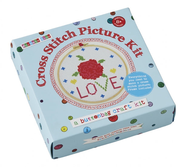 Cross stitch picture kit by Buttonbag - Peach Perfect