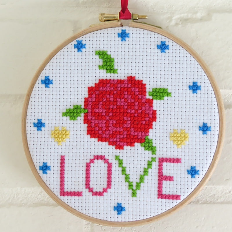 Cross stitch picture kit Completed - Peach Perfect