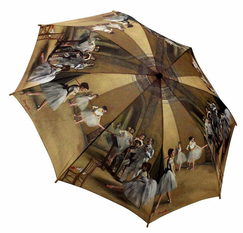 Degas ballerinas Art Umbrella - Peach Perfect