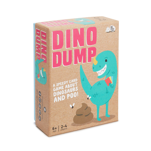 Dino Dump card game for kids by Big Potato - Peach Perfect