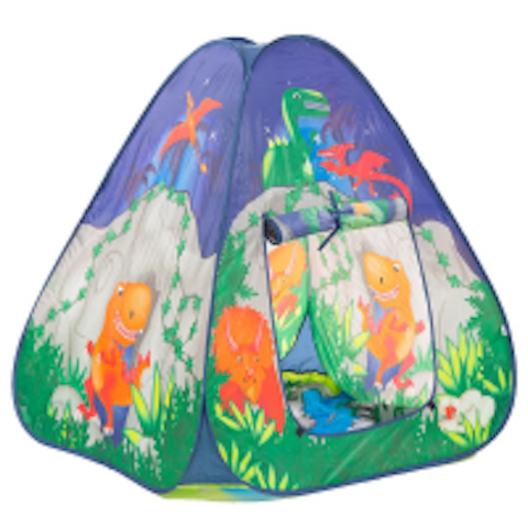 Dinosaur cave pop up play tent - Peach Perfect
