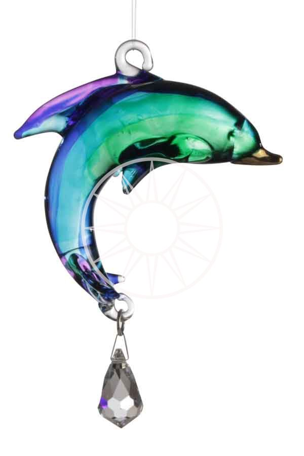 Fantasy Glass Dolphin with Swarovski crystal | Peach Perfect