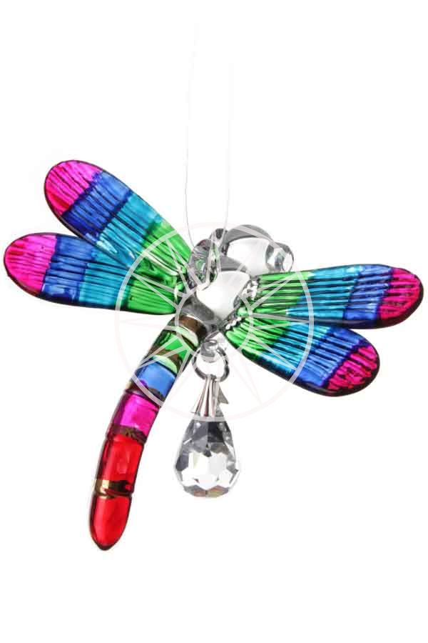 Fantasy Glass Dragonfly with Swarovski crystal | Peach Perfect