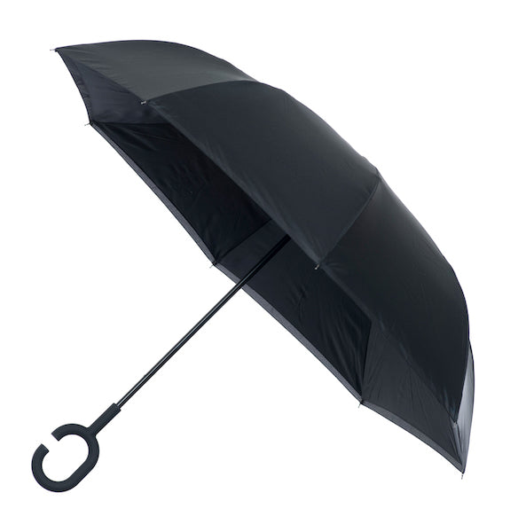 Inside out umbrella - Black - Peach Perfect