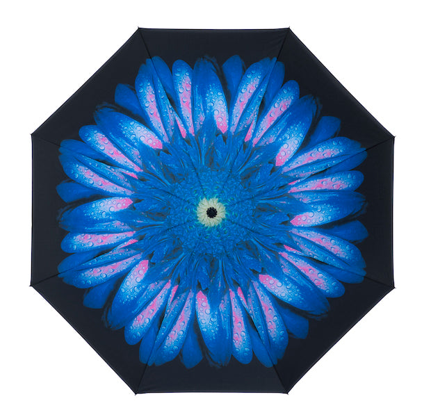 Inside out umbrella - Blue - Peach Perfect