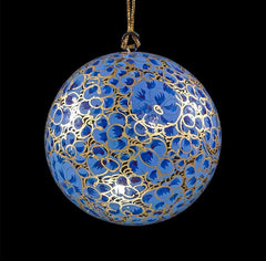 Blue and gold hanging bauble