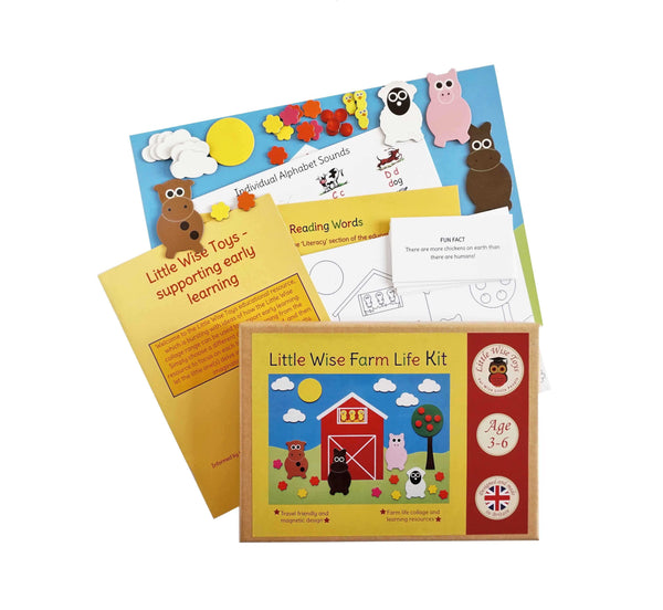 Little Wise Toys Magnetic collage kit - Farm life - Peach Perfect