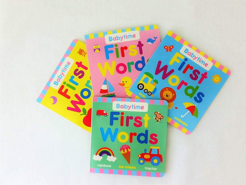 First words books for inclusion in Book Cushion
