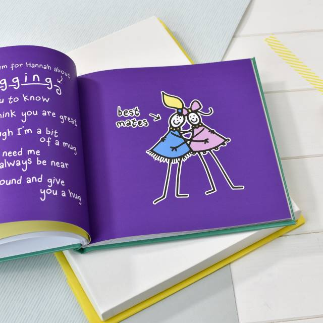 Purple Ronnie's Little Poems for Friends - Open page - Peach Perfect