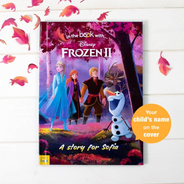 Personalised Frozen 2 book showing name on cover - Peach Perfect