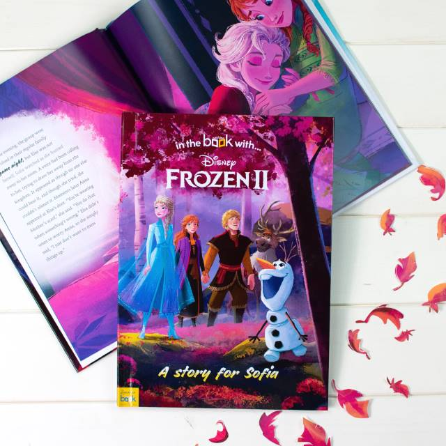 Personalised Frozen 2 book showing inside page - Peach Perfect