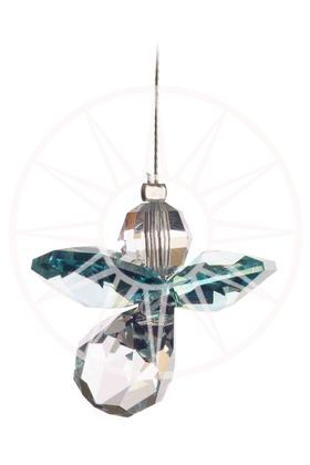 Crystal Guardian Angel - Blue Zircon - Peach Perfect