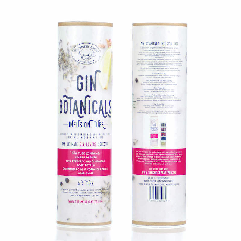 Gin Botanicals Infusion Kit - front and back - Peach Perfect
