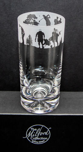 Golf frieze highball glass by the Milford Collection