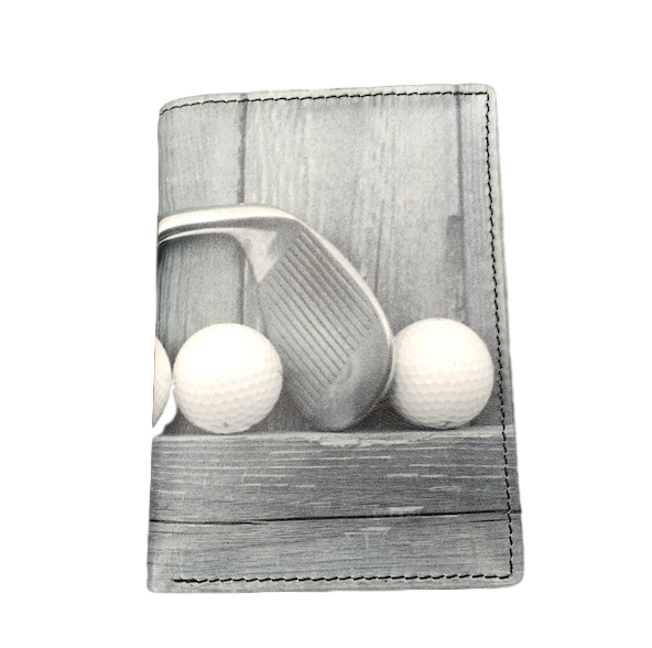 Kalmin leather RFID wallet with Golf design - Peach Perfect