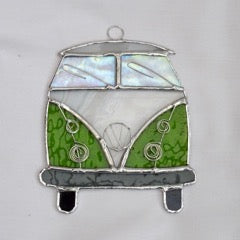 Camper Van Stained Glass Suncatcher | Peach Perfect
