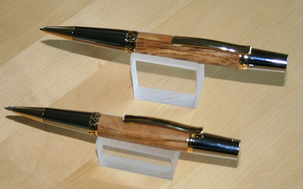 Matched Olive Wood pens - Peach Perfect - 1