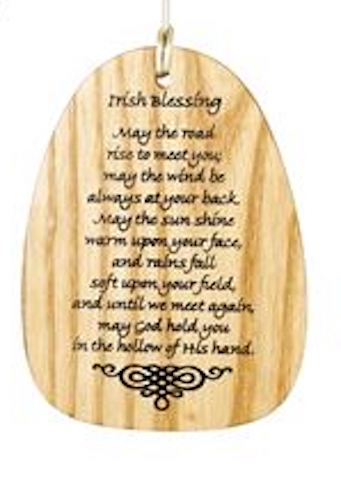 Irish Blessing Wind chime text - Peach Perfect