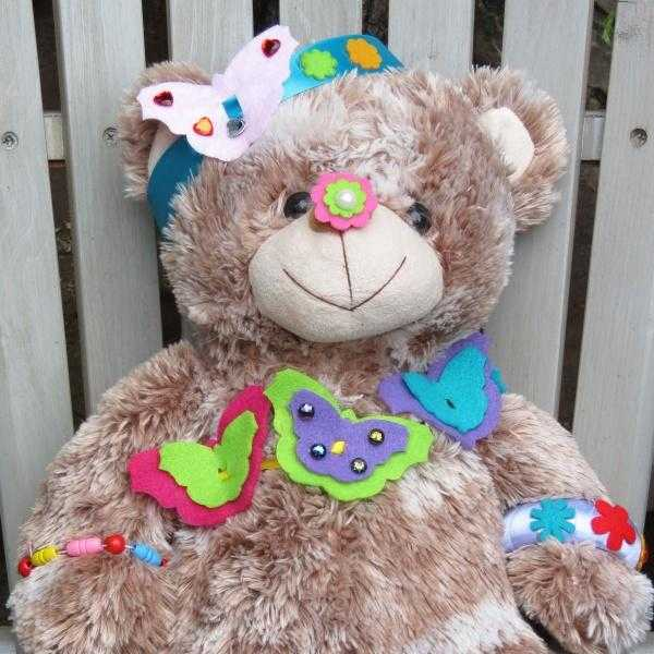 Buttonbag jewellery designer kit - decorated teddy - Peach Perfect