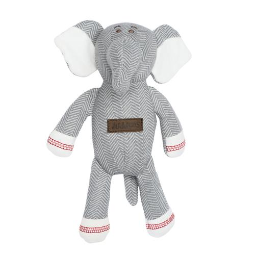 Organic cotton elephant rattle by Juddlies - Peach Perfect