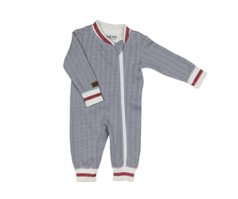 Juddlies babies organic cotton playsuit Cottage Dream - Peach Perfect