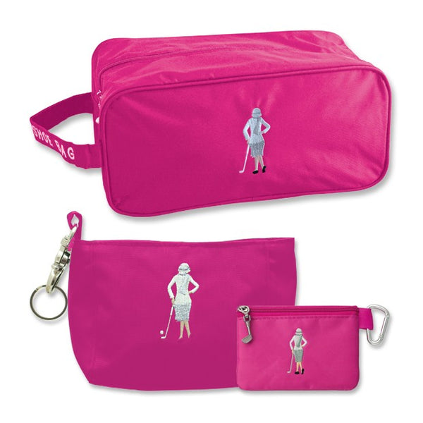 Lady golfer luggage set - pink - peach Perfect