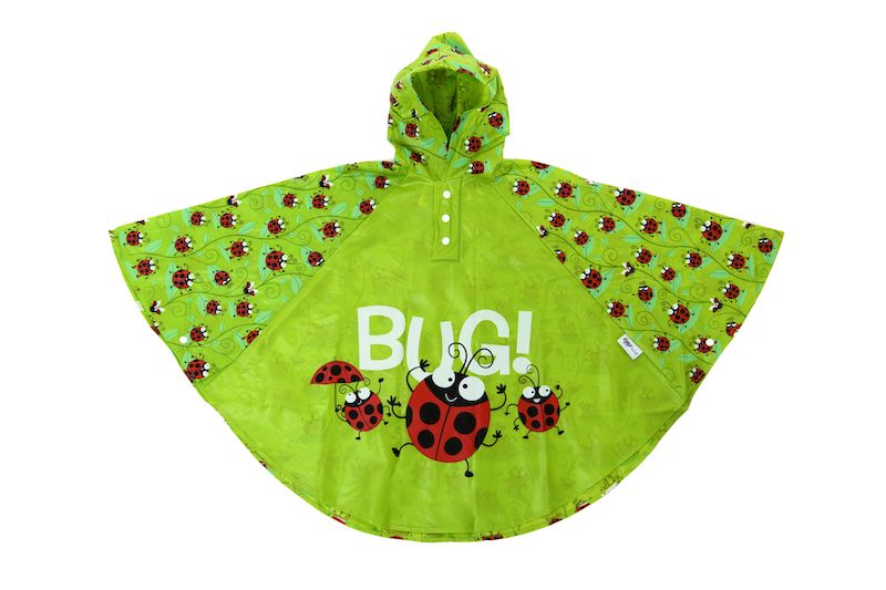 Kids rain poncho by Bugzz Kids Stuff - Ladybird - Peach Perfect