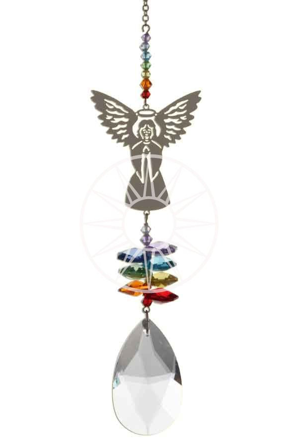 Swarovski crystal suncatcher - Angel -  Peach Perfect