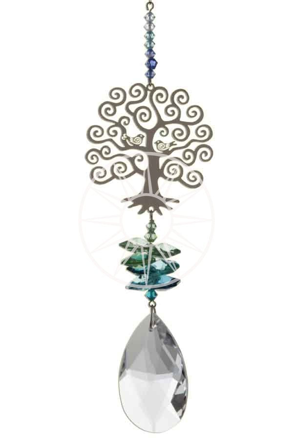 Swarovski crystal suncatcher - Tree of life - Peach Perfect