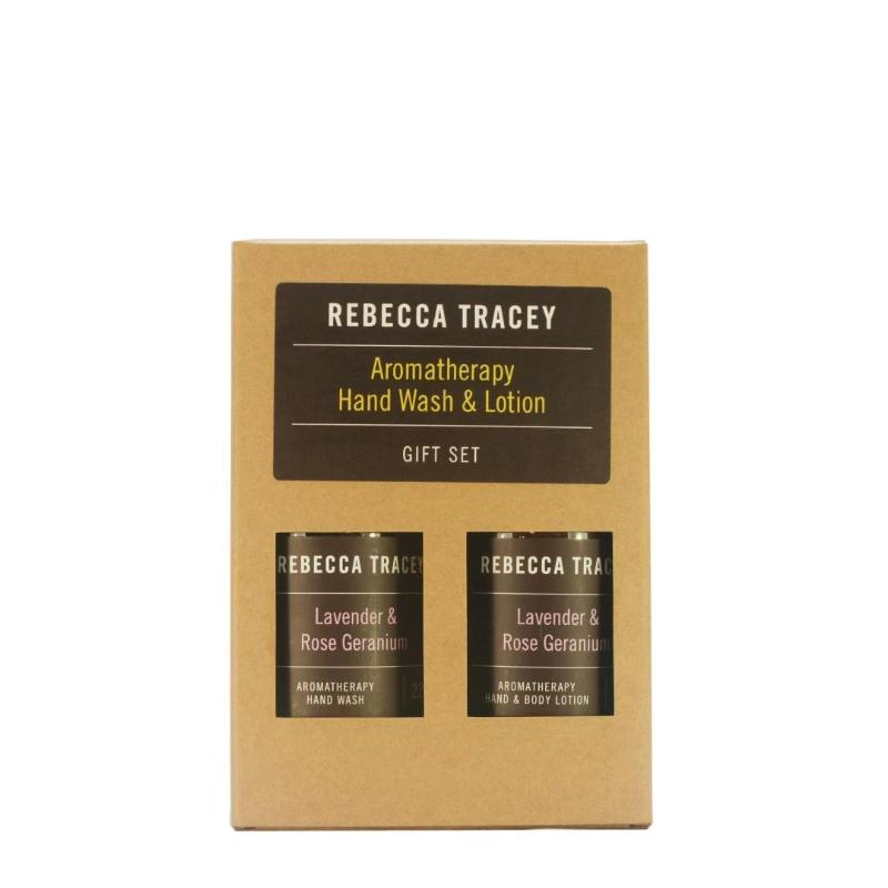 Rebecca Tracey Aromatherapy Hand wash and lotion - Lavender & Rose Geranium - Peach Perfect