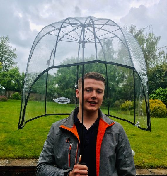Rainshader Sports Umbrella with man | Peach Perfect