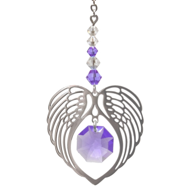 Angel Wing Light Amethyst - Peach Perfect