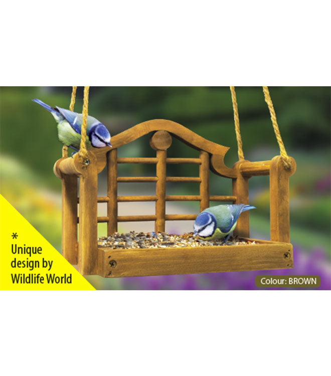 Lutyens Swing Bird Feeder by Wildlife World | Peach Perfect