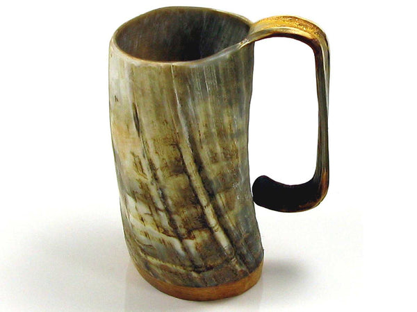 Abbeyhorn handmade oxhorn tankard - rough - large