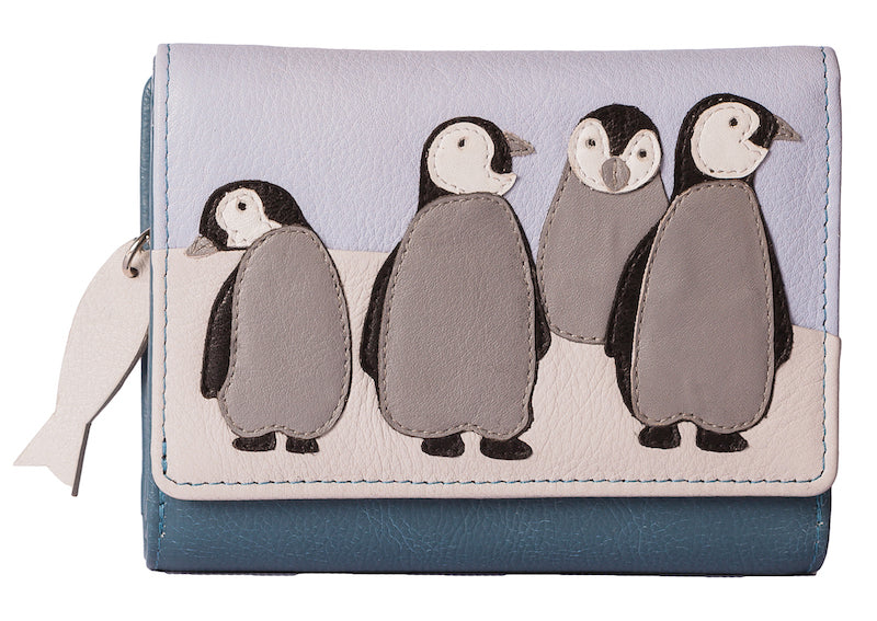 Ollie Penguin family purse by Mala - Peach Perfect