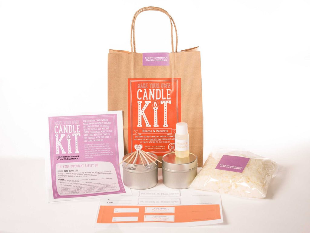 Mimosa & mandarin soy candle kit - Peach Perfect